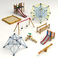 children playground 3d max