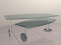 revolving coffee table 3d model