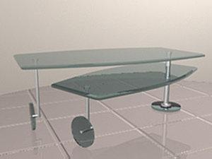 revolving coffee table 3d model