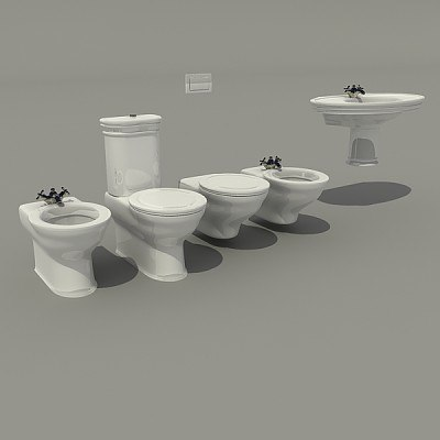 3d toilet washstand