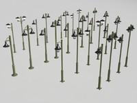 3d lamp-post lamp model