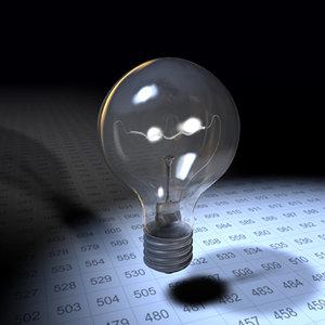 typical light bulb 3d c4d