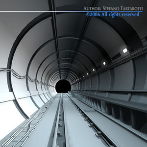 dxf track tunnel subway
