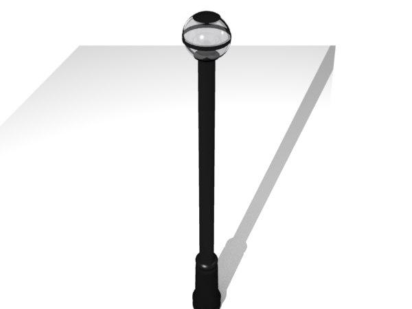 free 3ds model modern lamp post