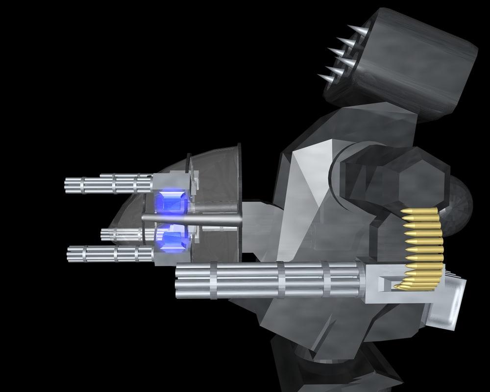 3d light battle mech