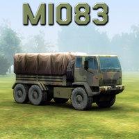 3d model truck nato cargo