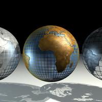 3d globes earth model