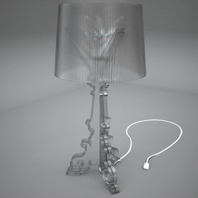 3ds max bourgie table lamp