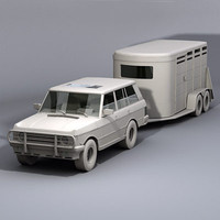 3d lwo horse trailer suv