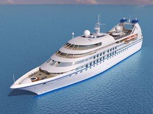 super yacht 3d model