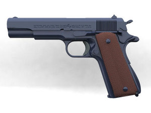 free m1911a1 pistol 3d model