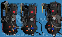 Ghostbusters Proton pack obj, 3ds, and Ms3d
