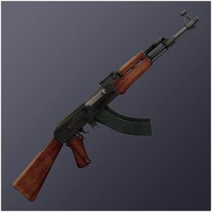 ak47 rifles 7 3d 3ds