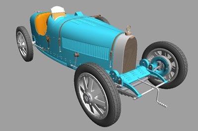 3d model bugatti t35