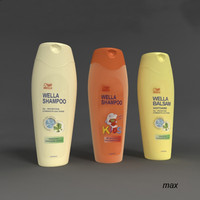 3ds max wella bottles