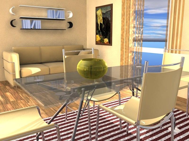home interior flat 3d model