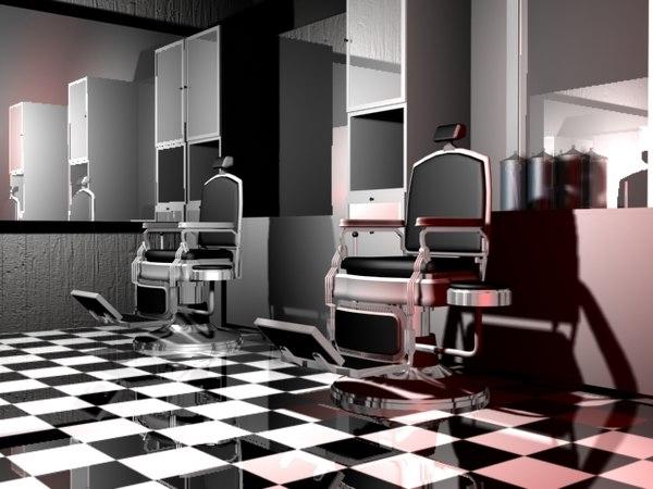 3d 3ds barber shop