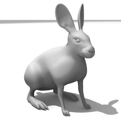 3d model brown hare