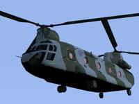 raf chinook falklands 3d model