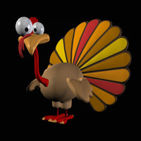 thanksgiving cartoon turkey pzsg 3d pz3