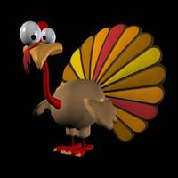 thanksgiving cartoon turkey pzsg 3d pz3