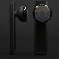 apple iphone bluetooth headset 3d model