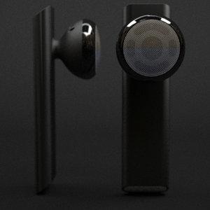 apple iphone bluetooth headset 3d model