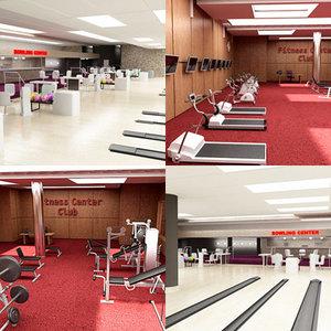 3d fitness center bowling