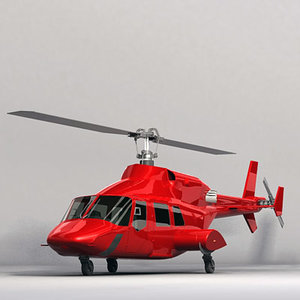 helicopter executive 3d model
