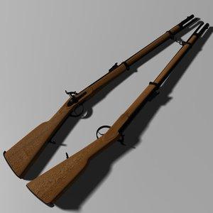 carabina enfield 1853 3d max