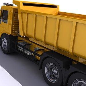 tipper truck 3d obj