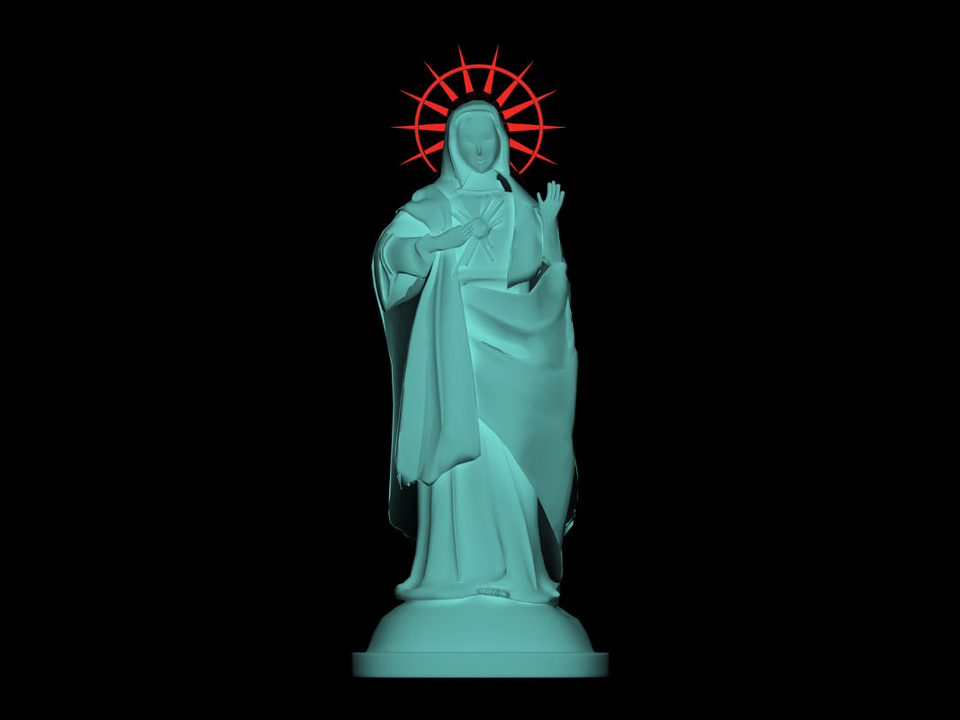 statue mary 3d model
