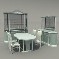 3ds max dining-room
