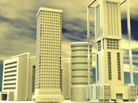pack building 3d model