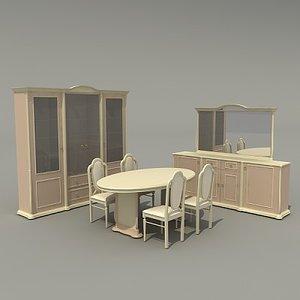 3d model dining-room