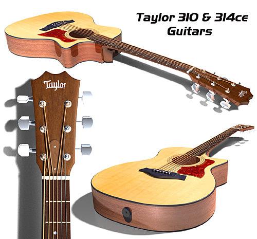 taylor guitars 300 series 3d ma