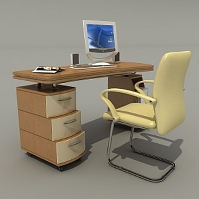 3ds max ofise table
