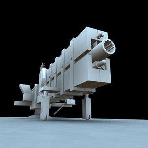 3d spaceship cannon