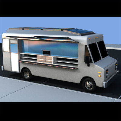 lunch truck 3d lwo