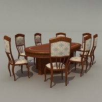 3d model tables chairs