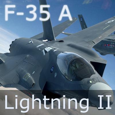 f-35 lightning ii fighter 3d model