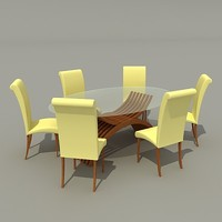 tables chairs 3d model