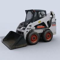 3d model bobcat skidsteer 2