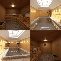 3d private pool sauna