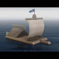 3d raft wood