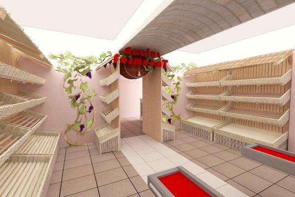 design supermarket 3d model