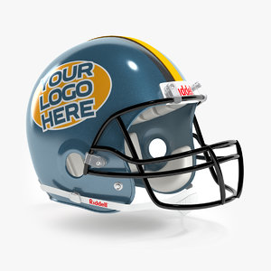 american football helmet riddell 3d model
