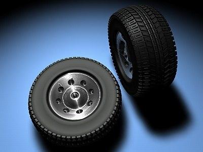 free c4d mode car tyre