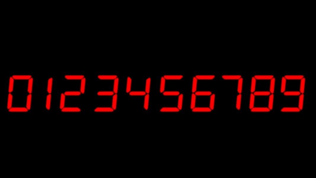 digital numbers timer 3d c4d