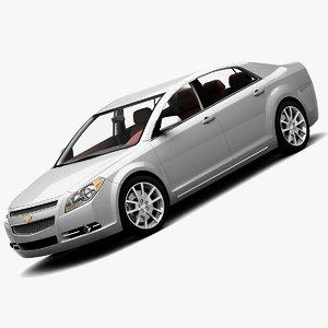 3ds 2008 chevrolet malibu sedan